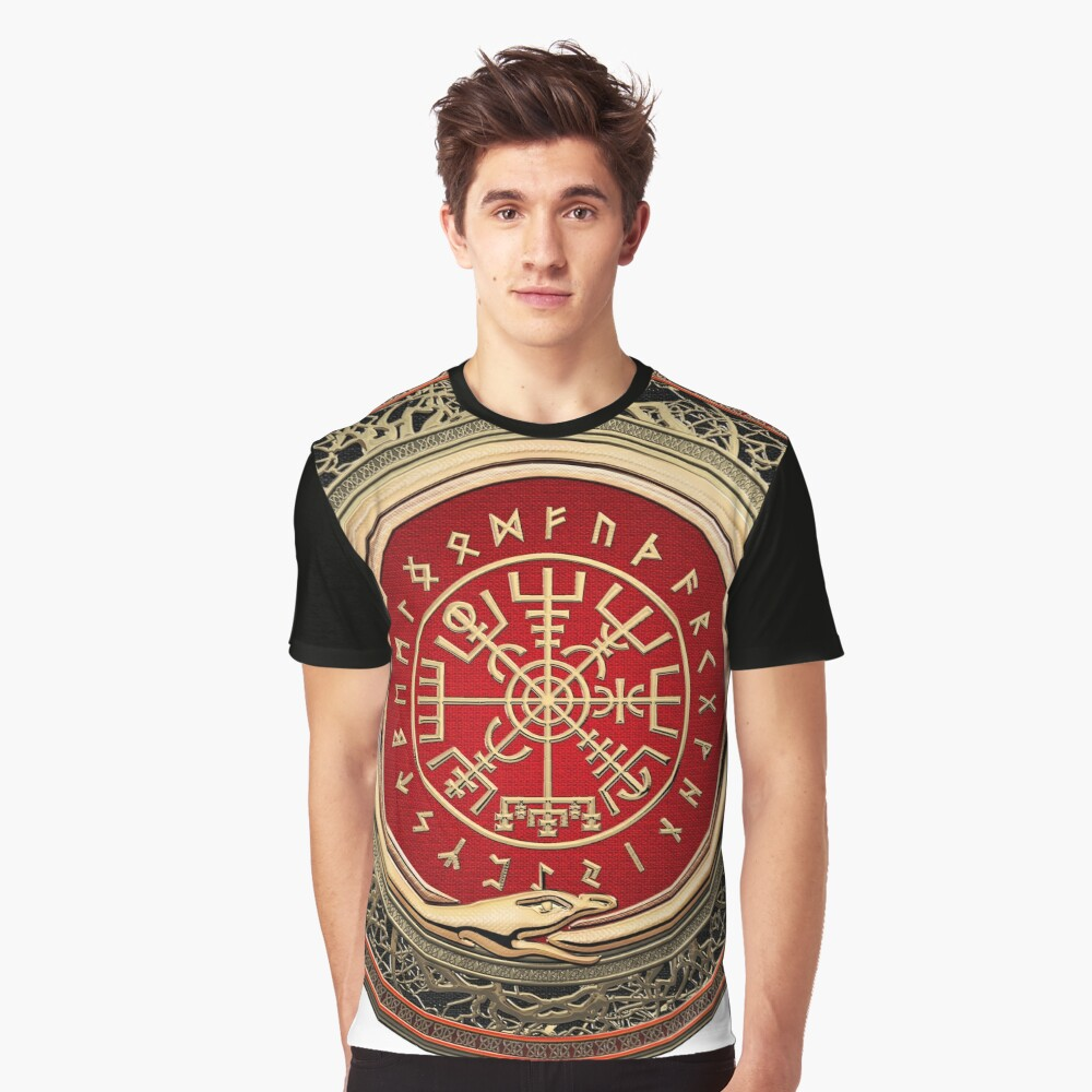 4b0a4358 Vegvisir - A Gold Magic Viking Runic Compass on White Leather ...