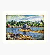 Blue Rocks, Nova Scotia Art Print