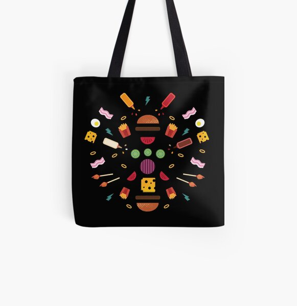 Burger Explosion  All Over Print Tote Bag