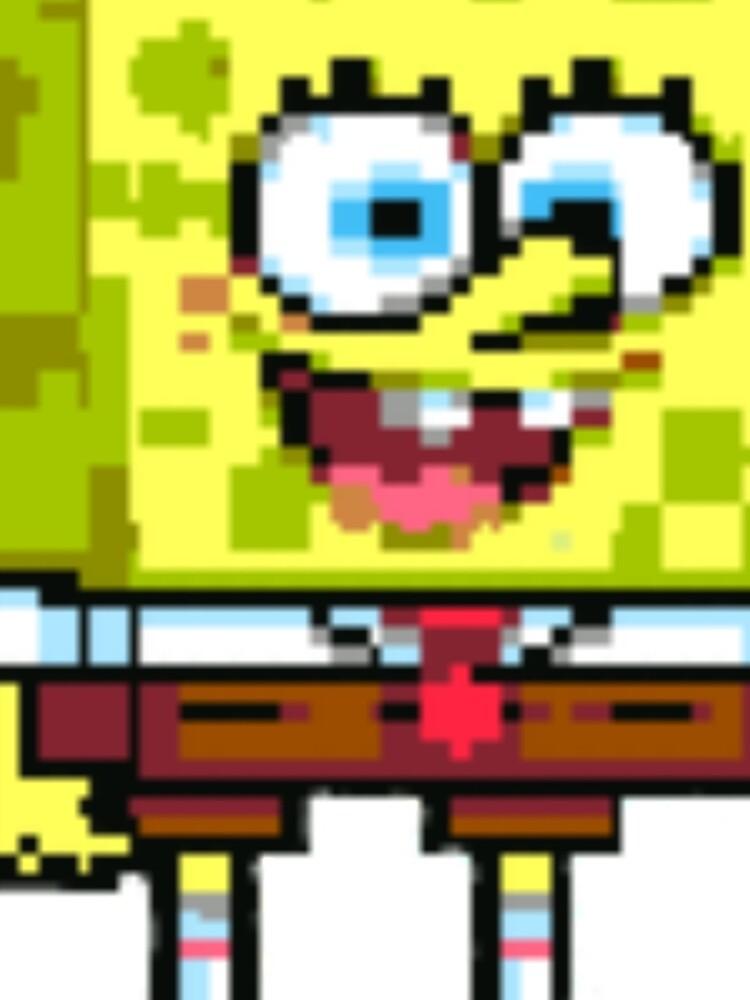 Spongebob Squarepants Supersponge Spongebob Sprite Graphic T