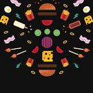Burger Explosion  by Natalie Tyler