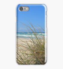 Ocean outlook through the sandy reeds iPhone Case/Skin