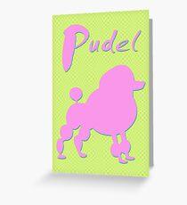 pink poodle - dog Greeting Card
