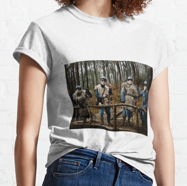 257th Infantry Regiment officers in the forest of Sainte-Marie, Bezange, 1916 Classic T-Shirt