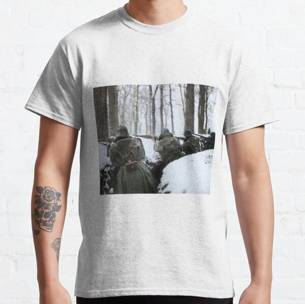 Soldiers aiming in trenches, Sierra de Guadarrama, 1936.  Classic T-Shirt