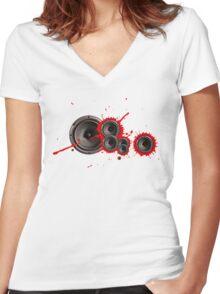 Speaker of the house... Women's Fitted V-Neck T-Shirt