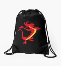 Red Lizard Drawstring Bag
