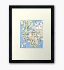 New York City Subway Map Framed Print