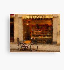 Boulangerie & Bike Canvas Print