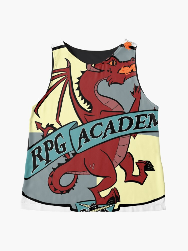 Alternate view of The RPG Academy Podcast logo Sleeveless Top