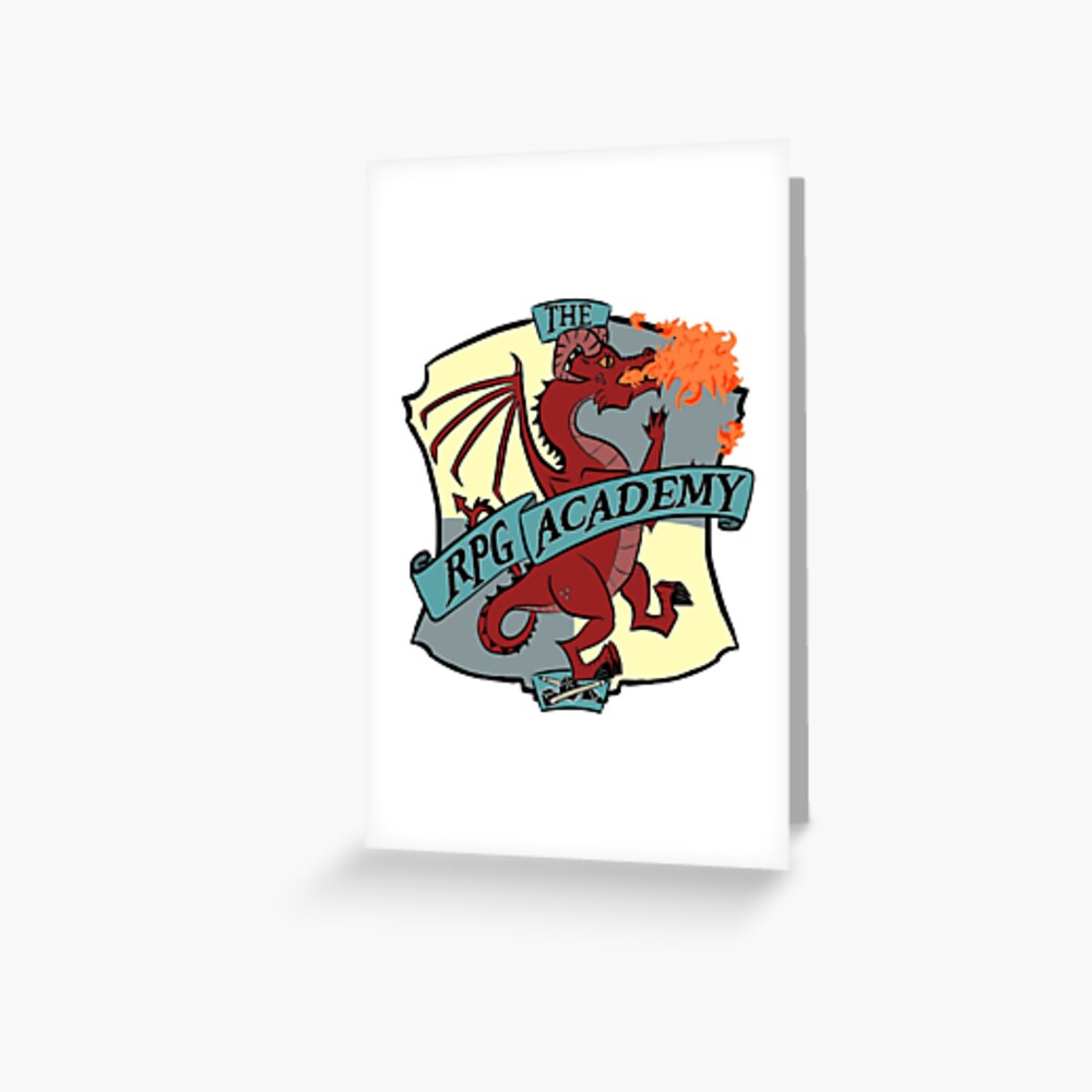 The RPG Academy Podcast logo Greeting Card