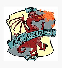 The RPG Academy Podcast logo Photographic Print