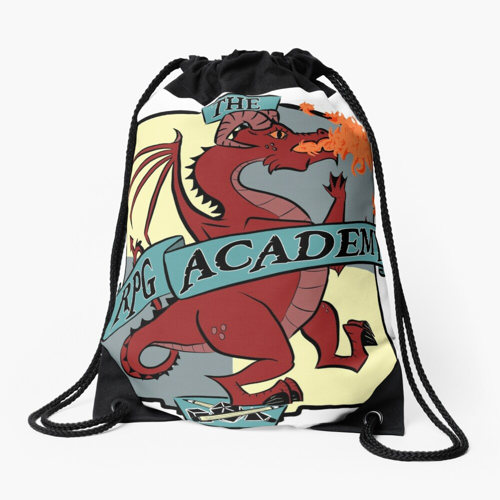 The RPG Academy Podcast logo Drawstring Bag