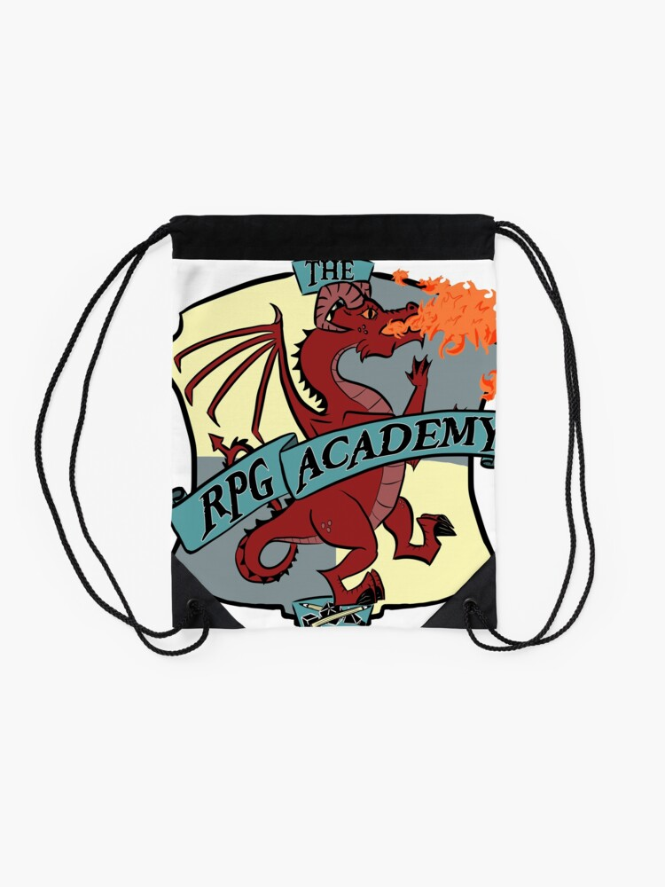 Alternate view of The RPG Academy Podcast logo Drawstring Bag