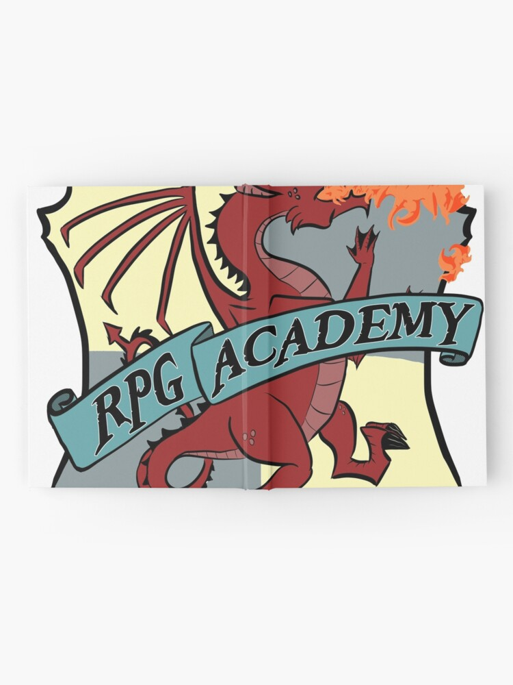 Alternate view of The RPG Academy Podcast logo Hardcover Journal