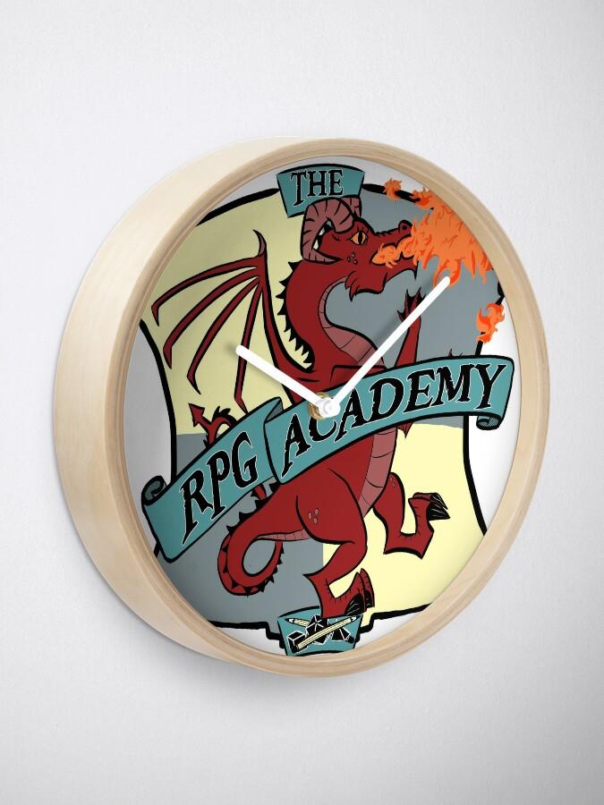 Alternate view of The RPG Academy Podcast logo Clock