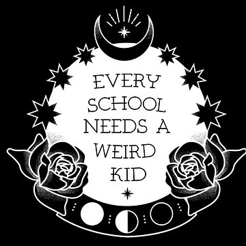 Weird Kid At School Crystal Ball Tattoo Monochrome Graphic by TotalTeeGeek