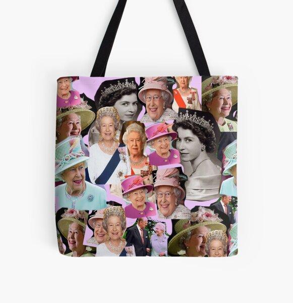HRH  Queen Elizabeth II All Over Print Tote Bag