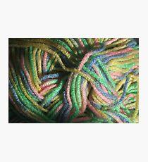 Multicolored Yarn Photographic Print