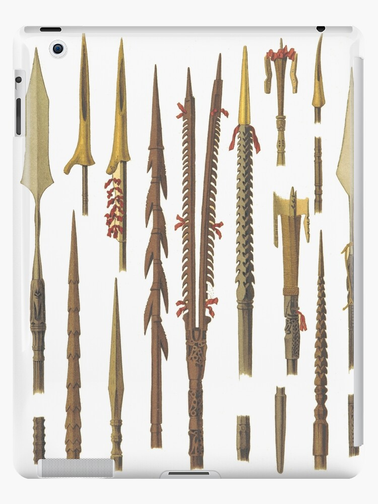 'African spears and weapons for fishing' iPad Case/Skin by Historyforyou