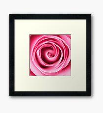 Pink Rose Petals Swirl Framed Print