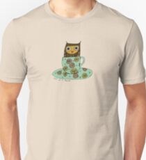 Owl in a teacup Unisex T-Shirt