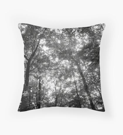 Trees Black&White Throw Pillow