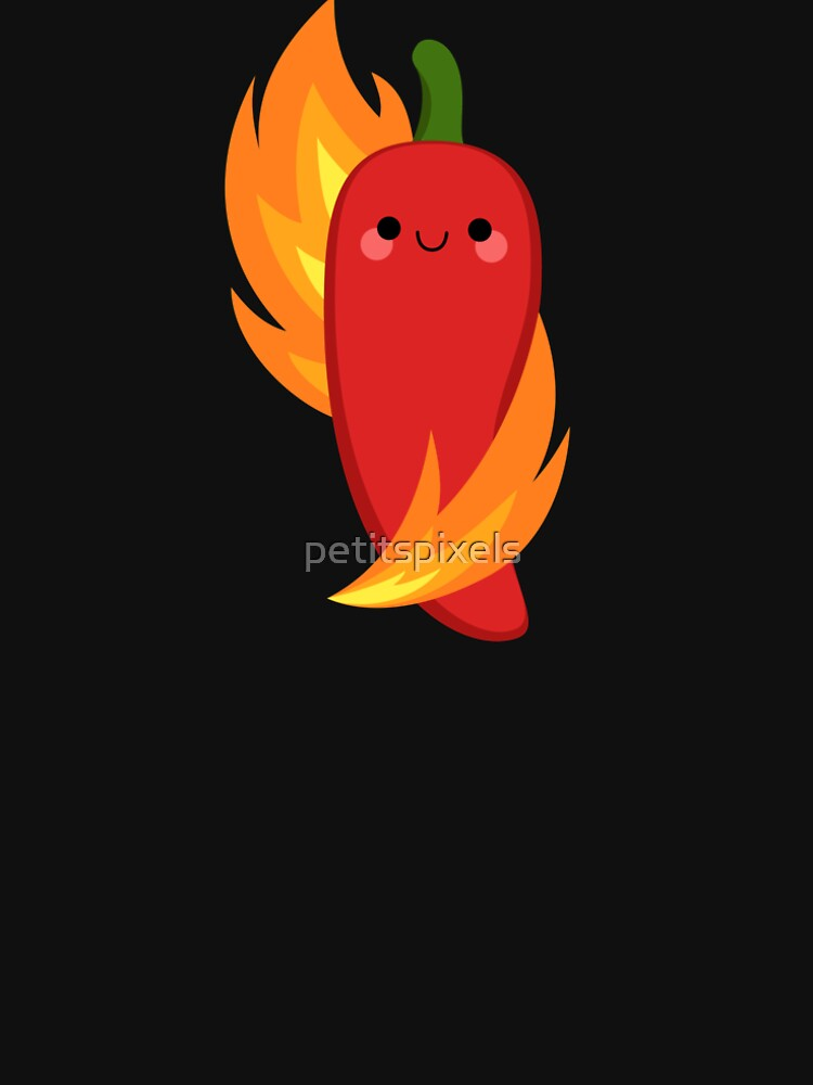 Red chili peppers and fire by petitspixels