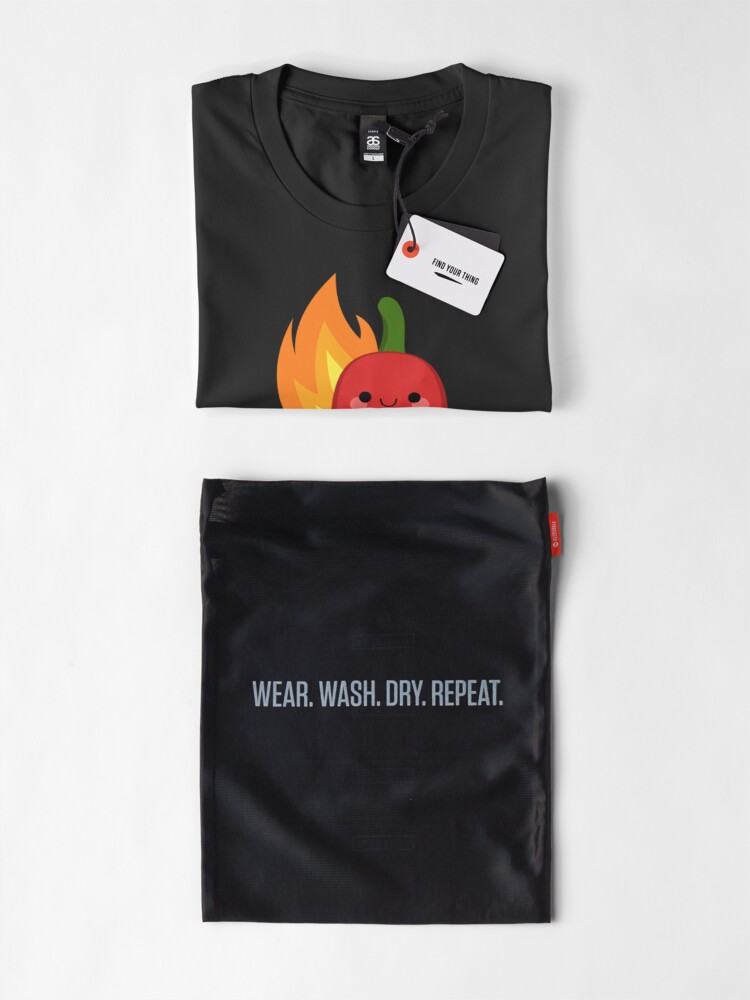 Alternate view of Red chili peppers and fire Premium T-Shirt