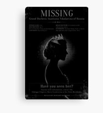 MISSING! Canvas Print