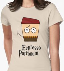 Harry Potter Espresso Patronum Magic Coffee Cup Women's Fitted T-Shirt