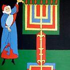 Aaron Lighting the Menorah by Shulie1