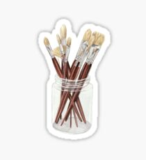 Brushes Sticker