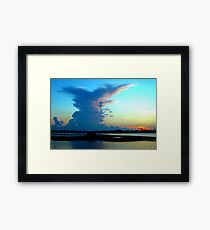 Blue dominance Framed Print