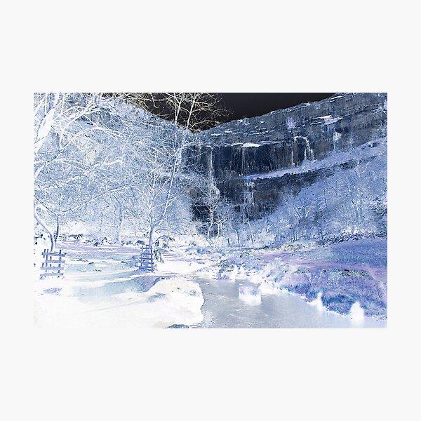 Malham Cove in Ice Photographic Print