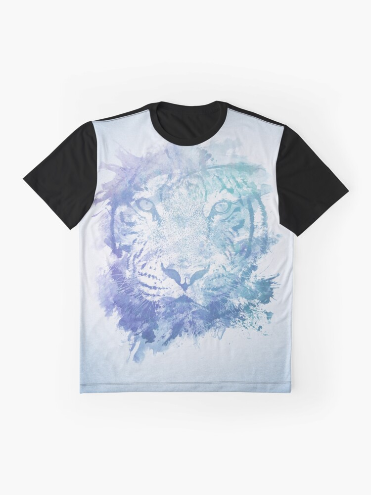 Alternative Ansicht von Abstraktes Aquarell Tiger Portrait / Face Grafik T-Shirt