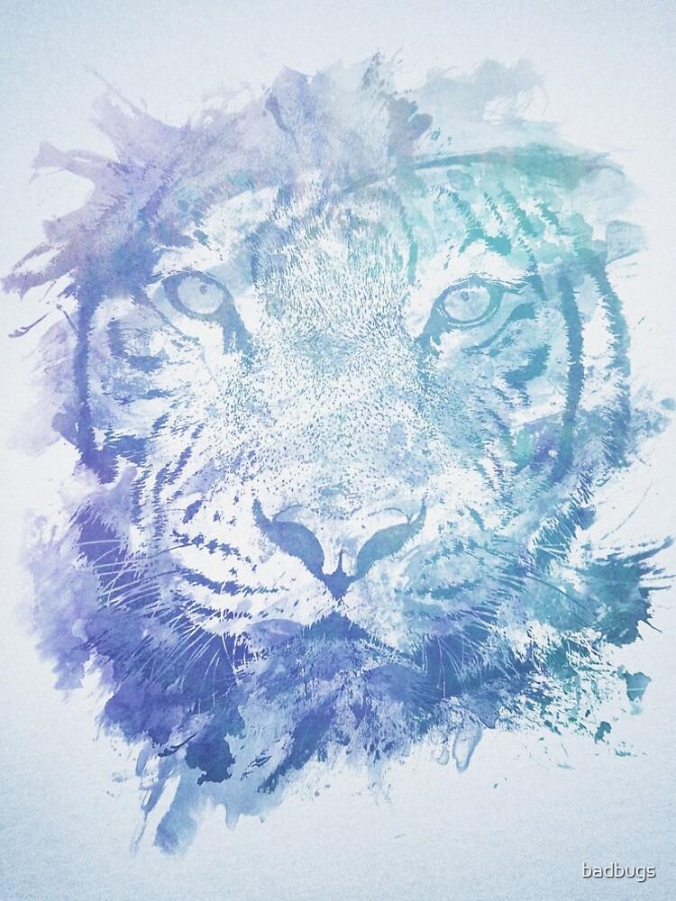 Abstraktes Aquarell Tiger Portrait / Face von badbugs