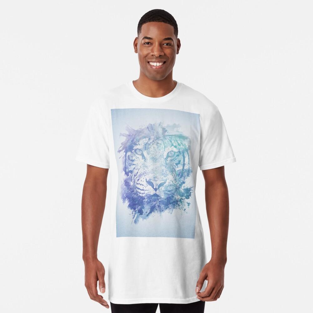 Abstraktes Aquarell Tiger Portrait / Face Longshirt