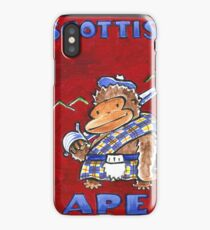 Scottish Ape on Red iPhone Case