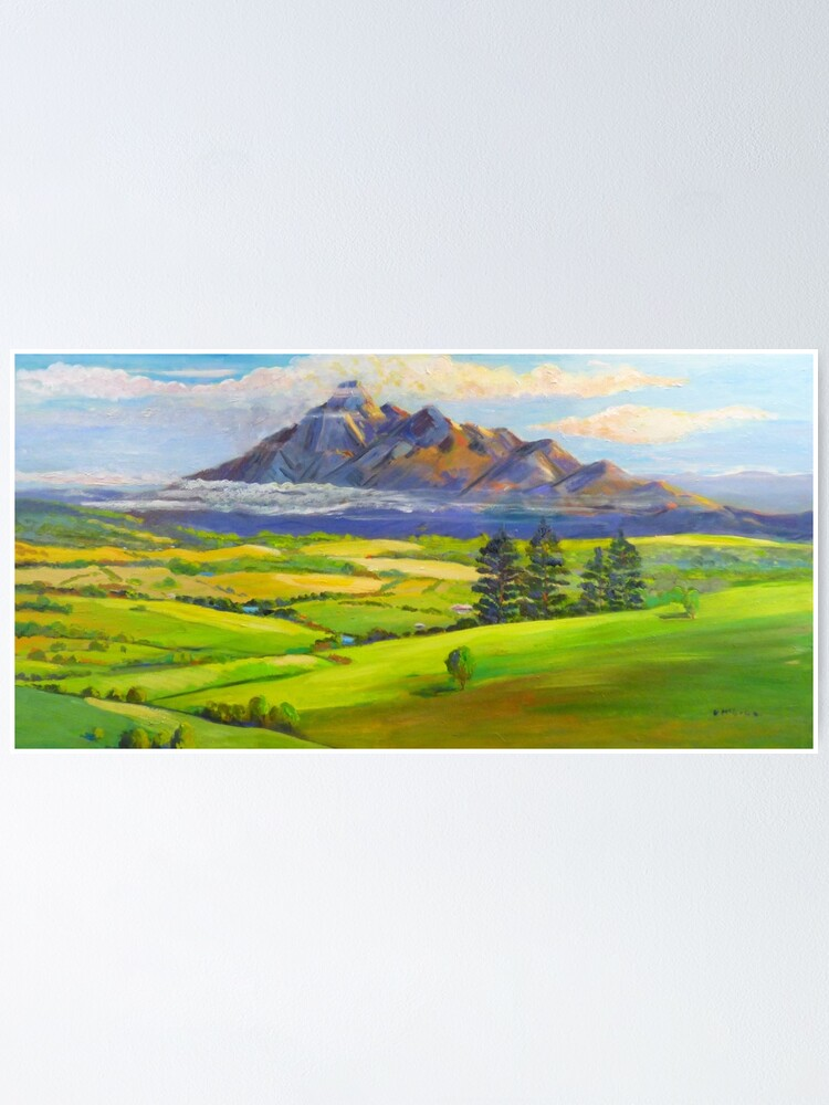 Alternate view of Beautiful Mt Barney  Poster