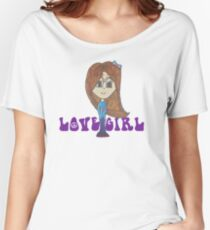 Purple Love Girl Give the World a Big Hug :) Women's Relaxed Fit T-Shirt