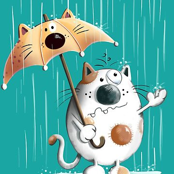 Cat And Rainy Day  by modartis