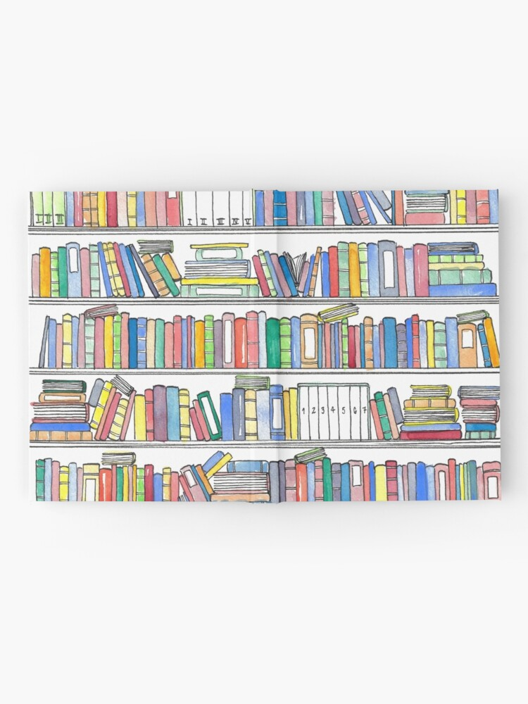 Alternate view of Rainbow Bookcase Hardcover Journal