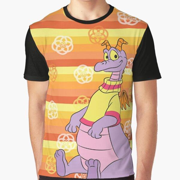 Retro Orange Stripe Figment Graphic T-Shirt