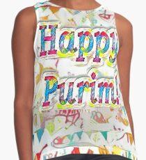 Happy Purim, confetti Contrast Tank