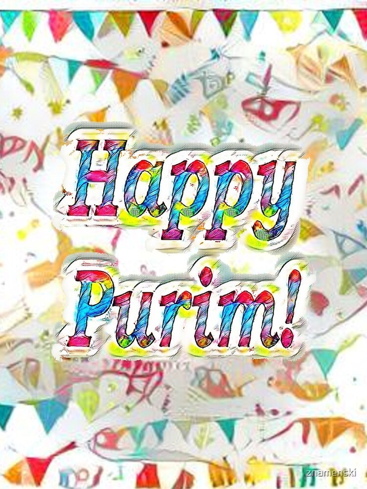 Happy Purim, confetti by znamenski