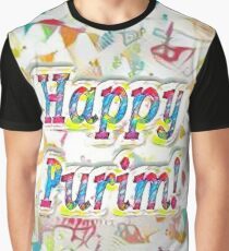 Happy Purim, confetti Graphic T-Shirt