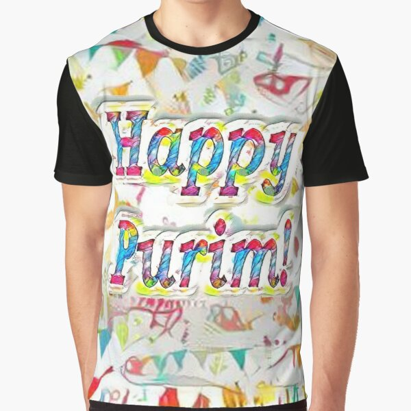 Jewish,  Happy Purim, confetti Graphic T-Shirt