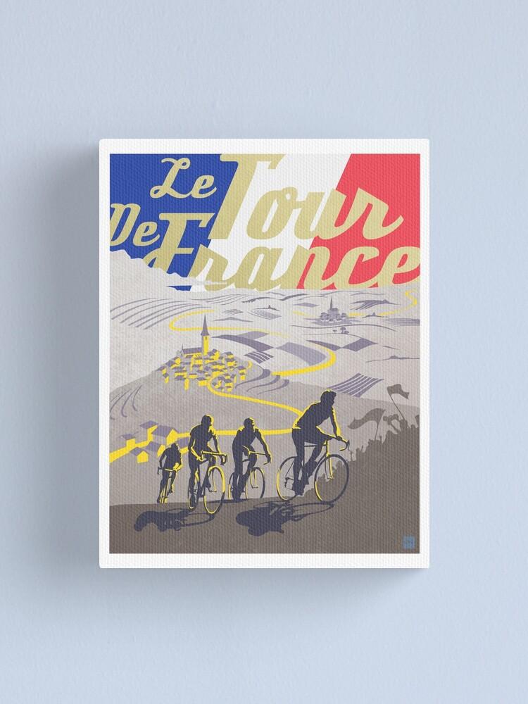 Alternate view of Le Tour de France retro poster Canvas Print