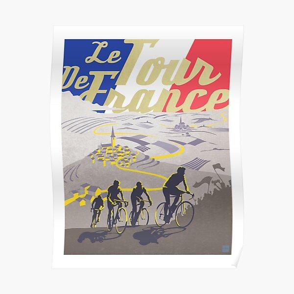 Affiche rétro du Tour de France Poster